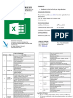 Basic MS Excel