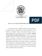 Sentencia que declara procedente extradición del presidente de Globovisión