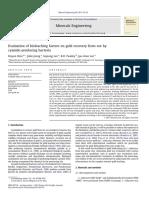 Evaluación de Los Factores de Biolixiviacion Para Recuperacion de Oro Mediante Bacterias Cianogenicas