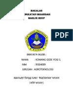 Ex Makalah Tingkat Organisasi