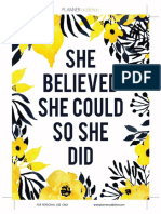 She Believed She Could PDF