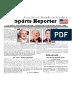 November 1 - 7, 2017  Sports Reporter