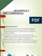 Sistema Democratico y Libre Competencia