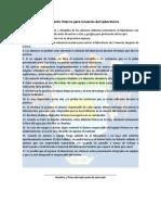 Reglamento Interno Para Usuarios Del Laboratorio