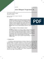 Higher Education Bilingual Programmes In Spain
