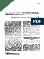 Efeitos Da Forma Fisica e Nivel de Energia Da Racao Sobre o Desempenho e Carcaca de Frangos de Corte1