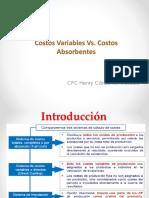 Costos Variables y Absorbentes
