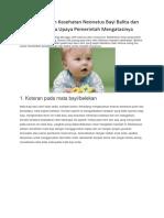 Permasalahan Kesehatan Neonatus Bayi Balita dan Aanak serta Upaya Pemerintah Mengatasinya.docx