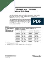 TDS3052B, TDS3054B, and TDS3064B Oscilloscope