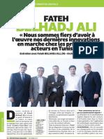 Interview de Mohamed Fateh BEL HADJ ALI Par Magazine Entreprise