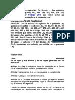 Código Civil Derogatorias Al 2017