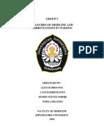 Branches of Medicine Abbreviations in Nursing
