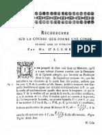 d'Alembert, J. - Reeherches Sur La Courbe Que Forme Une Corde Tendue Mine en Vibration (3)