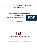 TB-PS100 Hole Punching Machine - Operation Manaul - Spanish 2017