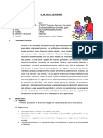 Plan de Tutoria Segundo FBC