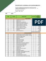 01. Presupuesto General de Equipamiento