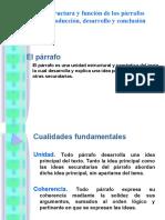 Estructura y función de los párrafos