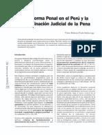 La Reforma Judicial en El Perú y La Determinación de La Pena - Victor Prado Saldarriaga