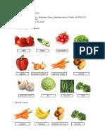 Fiche de Travail Les Legumes Cl. II l1
