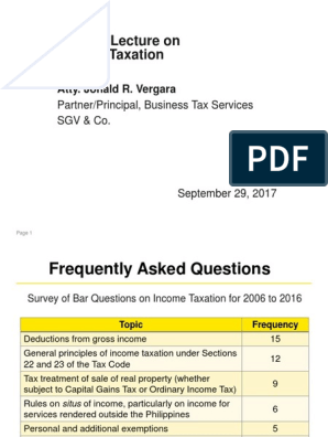 Ethics Digest Final | Gross Income | Tax Deduction