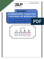 evaluación de flow sheet y leyes y densidades