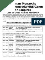 day 8 handout german monarchs overview