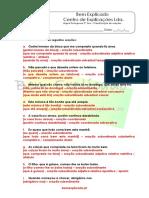 2.12 Ficha de Trabalho Classificação de Orações 1 Soluções