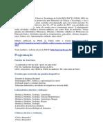 Semana Nacional de Ciência e Tecnologia - UNIFAL/MG, 2007.