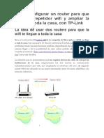 Configurar Router TP-LINK Como Repetidor