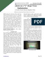 "Stress Analysis on a ""L"" shape Truss Optimization"