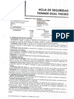 MSDS - THINNER ACRILICO