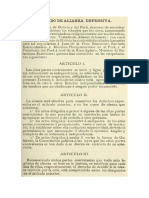 Texto Del Tratado Secreto de Alianza Defensiva Celebrado El 6 de Febrero de 1873