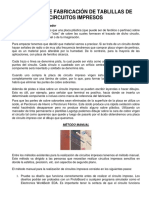 Métodos de Fabricación de Tablillas de Circuitos Impresos