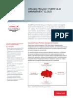 Oracle Project Portfolio Management Cloud Datasheet