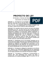Proyecto Ley Prorroga Retenciones 2010 II