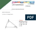 Lista Exercícios Triângulos 8 Ano