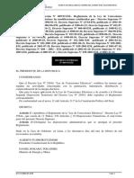 Reglamento de La Ley de Conseciones Electricas