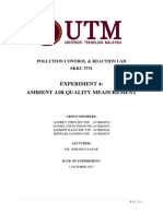PCR Lab - Experiment 4 Ambient Air Quality Management