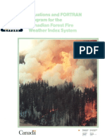 Equations and FORTRAN Program for the Canadian Forest Fire Weather Index System