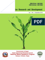 Journal of Maize Research and Development, Vol. 1, No. 1 (2015)