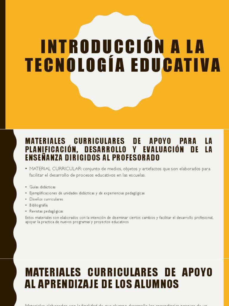 Introducción a La Tecnología Educativa Presentacion