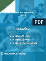 Gerações X,Y e Z - Games