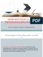 Introduccion a La Tecnologia Educativa David