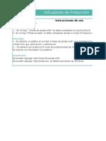 Planilla de Excel de Indicadores de Produccion