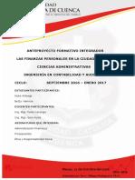 Esquema de Anteproyecto Formativo Articulo Cientifico 7mo y 8v0 Ciclo
