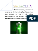 Energía Batería Se Denomina Batería Eléctrica
