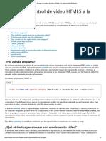 Agregar Un Control de Vídeo HTML5 a La Página Web (Windows)