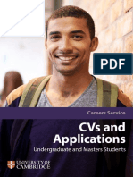 Cambridge Cvs and Applications 2017