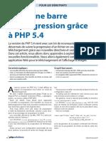 Créer une barre de progression grâce à PHP 5.4