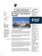 2014.07.22 - USA Realise Importance of Dependable Partners in the Region, Says Hudson Institute